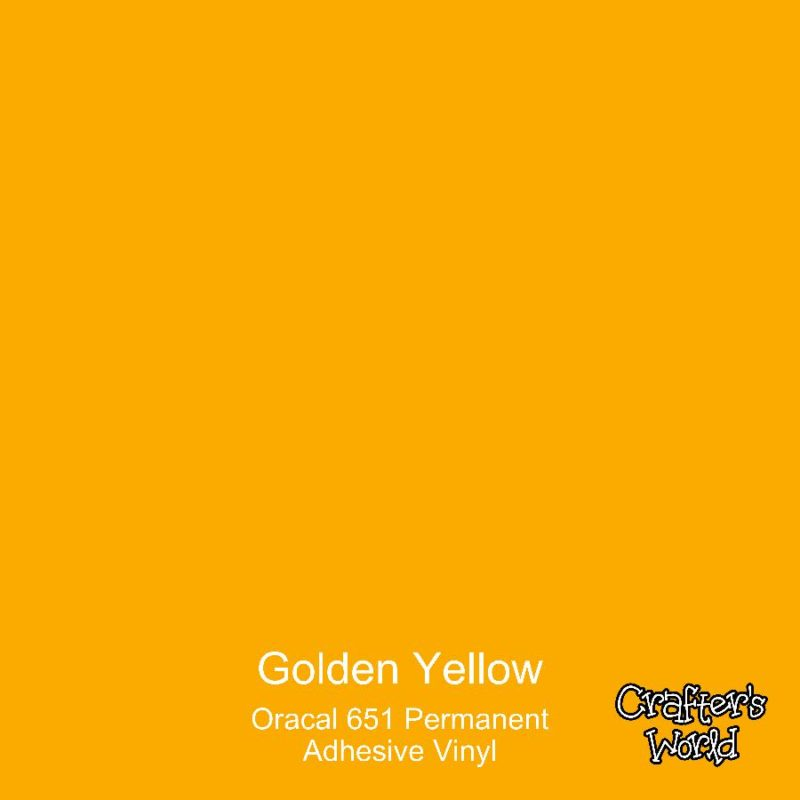 Crafter's World Oracal 651 Adhesive Permanent Vinyl Golden Yellow