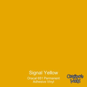 Signal Yellow 12″ x 24″