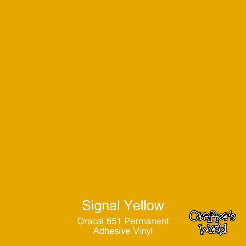 Crafter's World Oracal 651 Adhesive Permanent Vinyl Signal Yellow