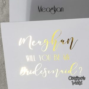 Bridesmaid Card Gold Foil