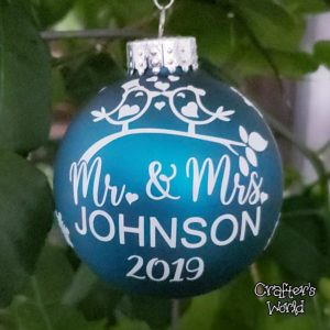 Mr. & Mrs. Ornament – Teal
