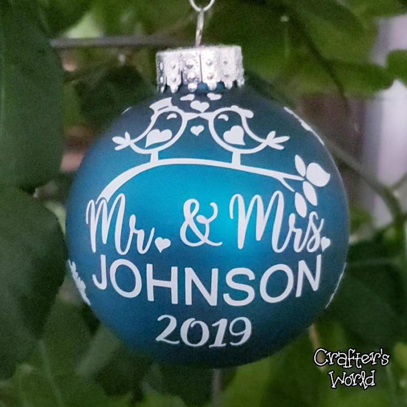 Crafter's World Custom Christmas Mr. & Mrs. Teal