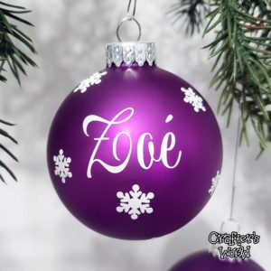 Name Ornament – Purple