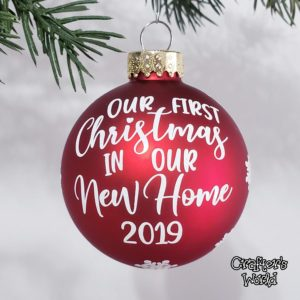 New Home Ornament – Red