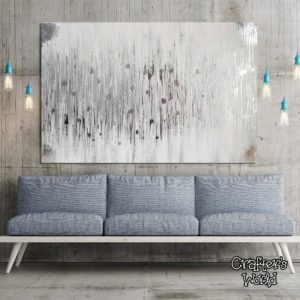 Silver Foil Textured Painting