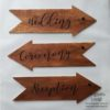 Crafter's World Custom Wedding Decor Directional Signs