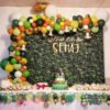 Crafter's World Event Jungle Theme Party Setup Balloons Backdrop