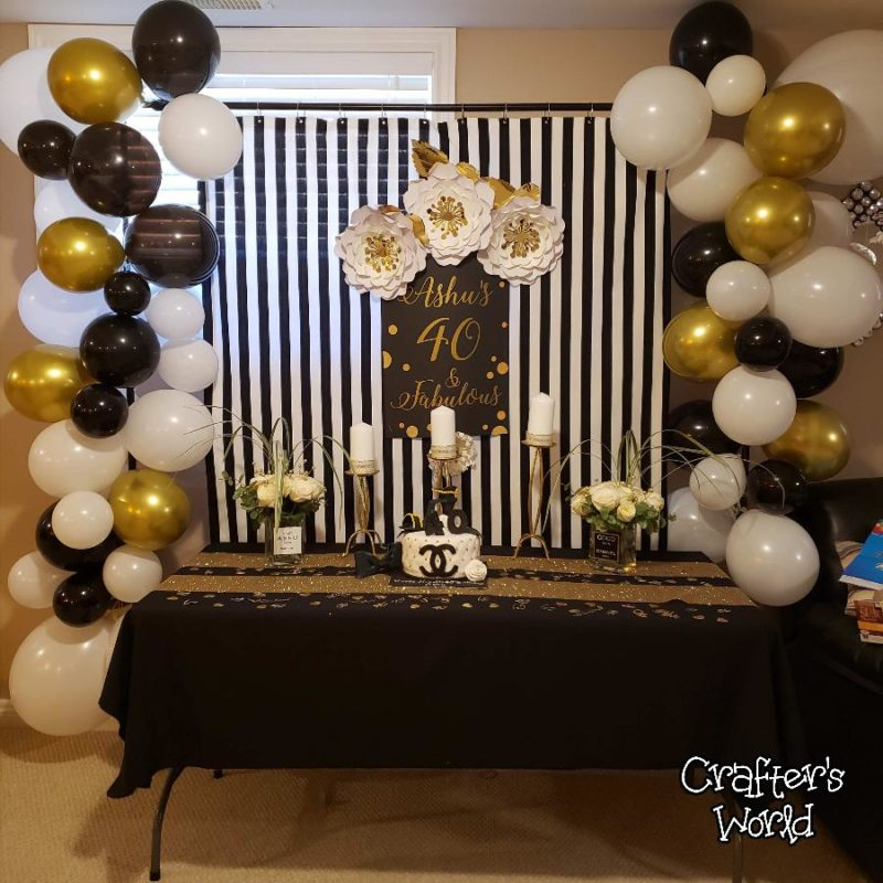Crafter's World Event Setup Chanel Theme Backdrop
