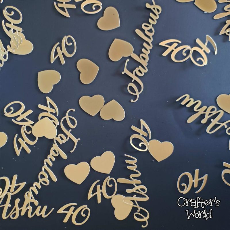 Crafter's World Event Setup Chanel Theme Confetti 40 Fabulous