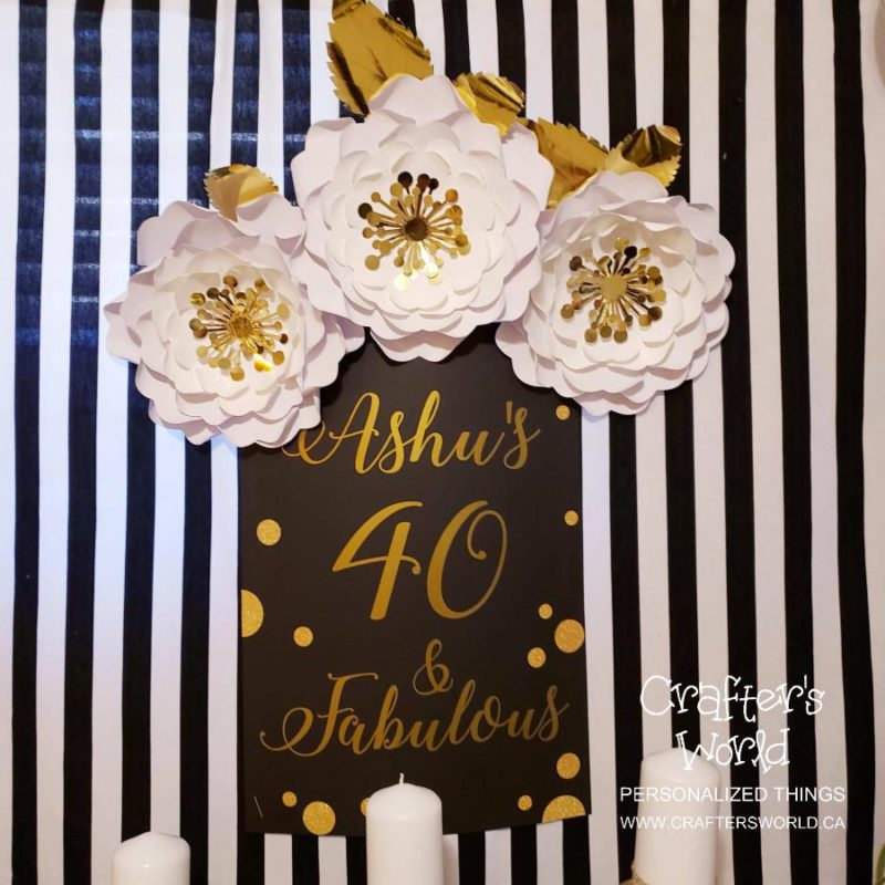 Crafter's World Event Setup Chanel Theme Paper Flowers