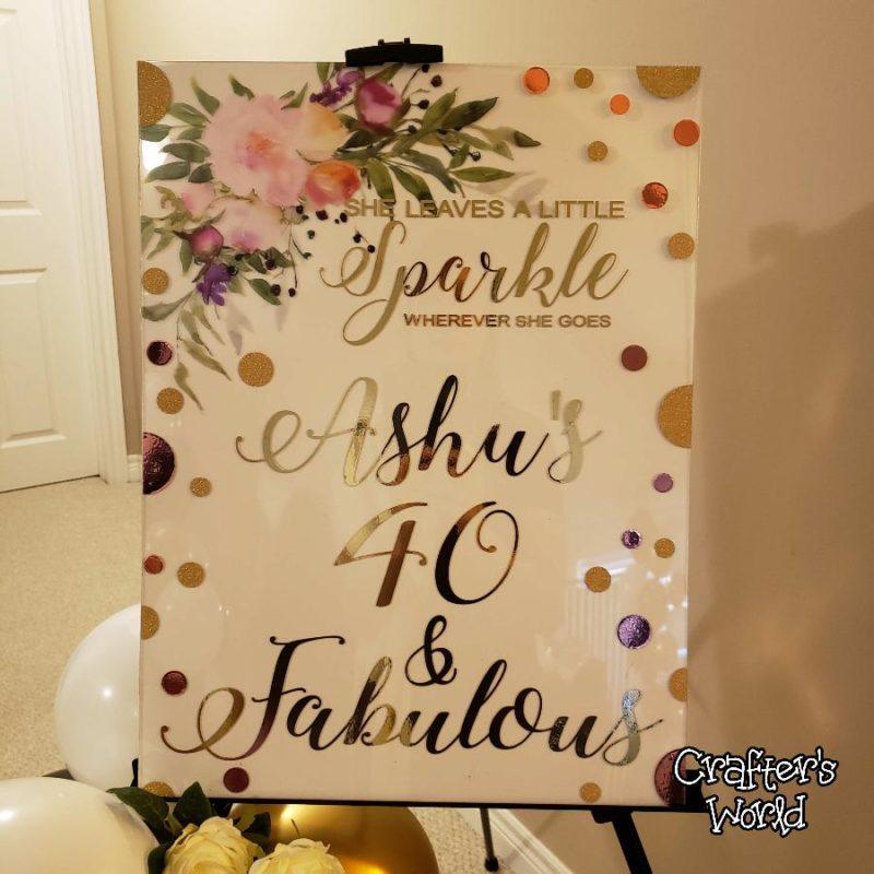 Crafter's World Event Setup Chanel Theme Welcome Sign 40 & Fabulous Ashu Closeup