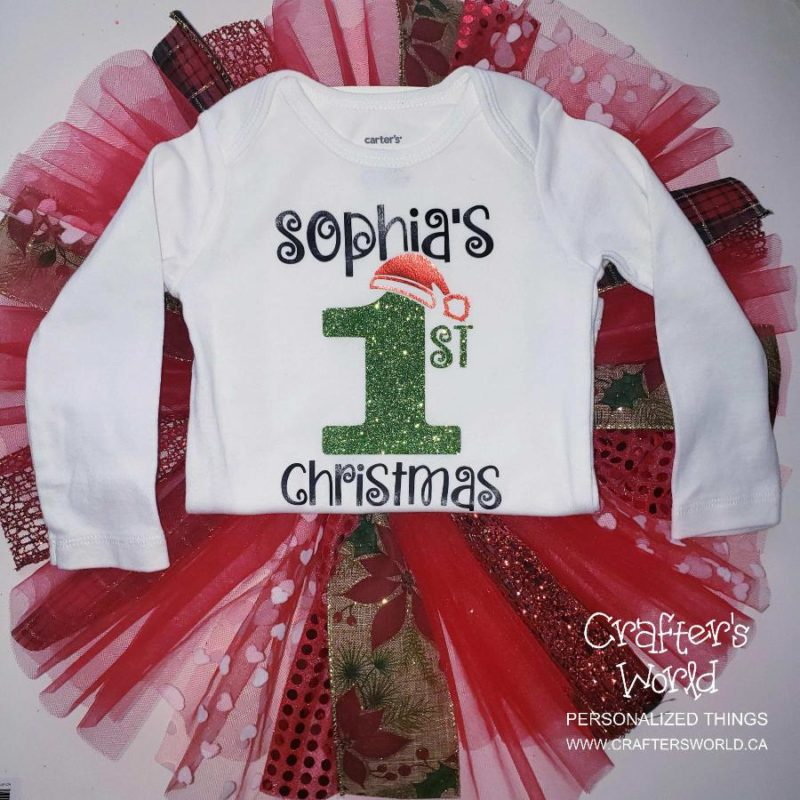 Crafter's World Custom First Christmas Tutu Outfit Sophia's