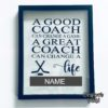 Crafter's World Custom Frame Hockey Coach Gift