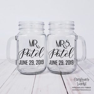 Mason Jar Toasting Glasses
