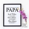 Crafter's World Custom Print Papa Framed