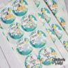 Crafter's World Custom Stickers for Candy Cones Birthday Favors