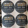 Crafter's World Mason Jar Stickers Twinkle Little Star Shower Favours