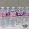 Crafter's World Custom Water Bottle Baby Girl Shower Pink Polkadots Almirah