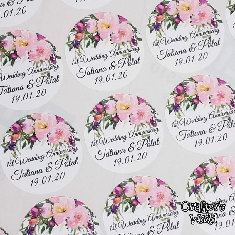 Crafter's World Custom Stickers First Anniversary Favors