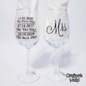 Mr. & Mrs. Toasting Glasses