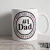 Crafter's World Custom Mug Best Dad Ever #1 dad