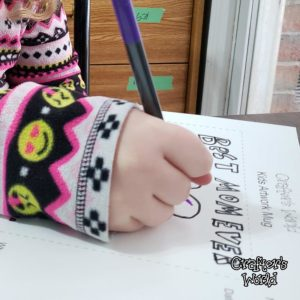 Kids Artwork Mug Activity