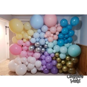Balloons Backdrop Set up