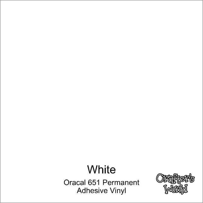 Crafter's World Oracal 651 Permanent Vinyl White Glossy