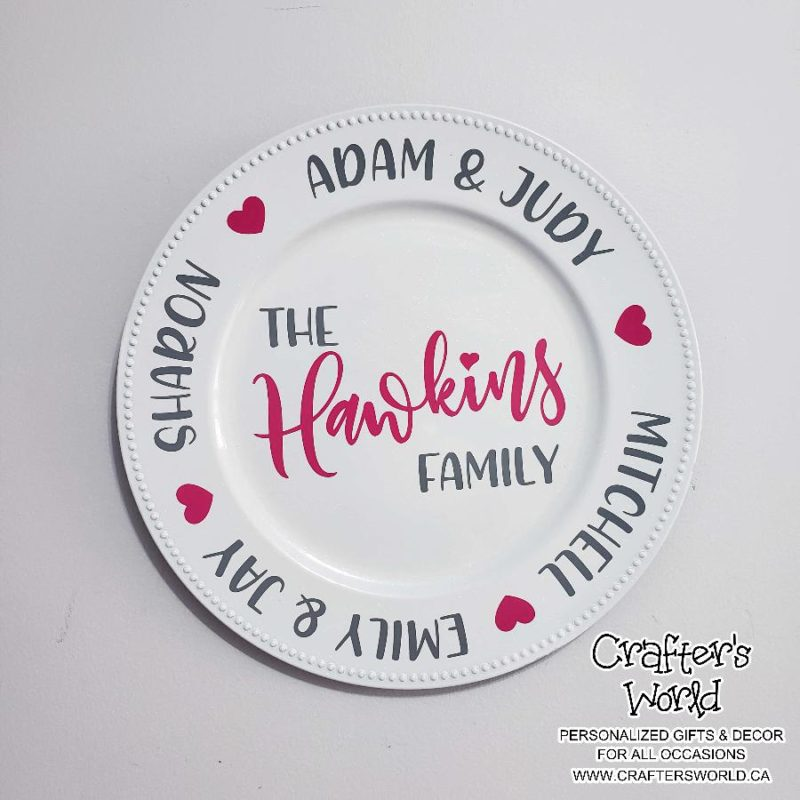 Crafter's World Custom Family Name Plate The Hawkins