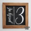 Crafter's World Custom Painted Wood Sign Party of 3