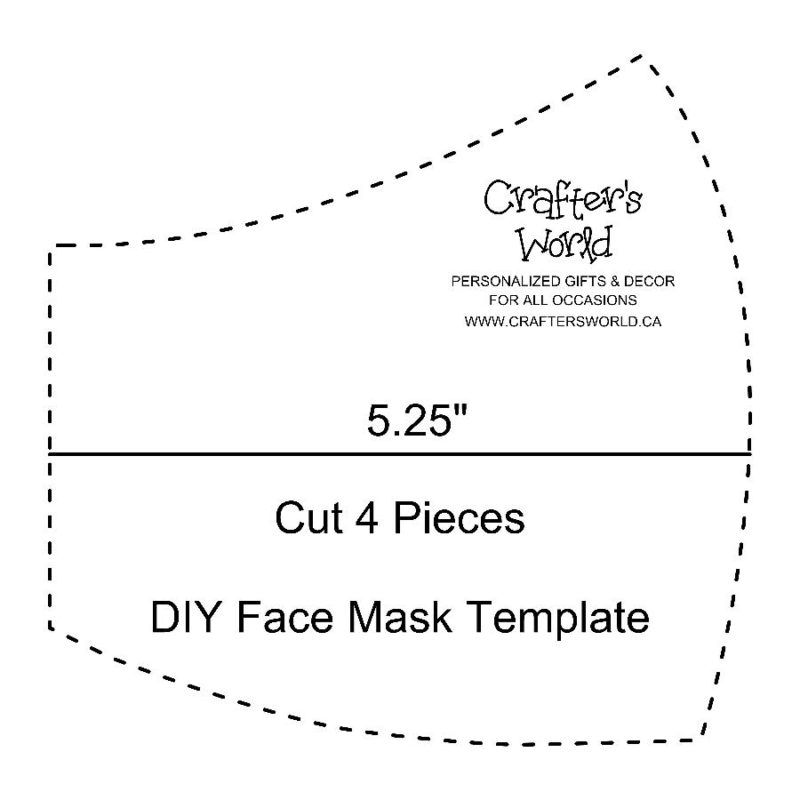 Crafter's World Face Mask Template DIY